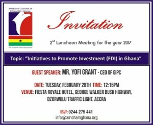 AMERICAN CHAMBER OF COMMERCE GHANA LUNCHEON MEETING