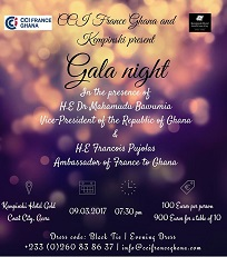 CHAMBER OF COMMERCE AND INDUSTRY FRANCE GHANA (CCIFG) GALA NIGHT