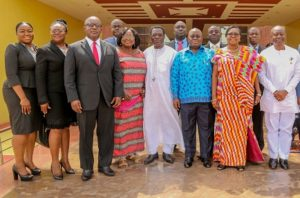 PRESIDENT INAUGURATES BOARD OF GHANA INVESTMENT & INFRASTRUCTURE FUND