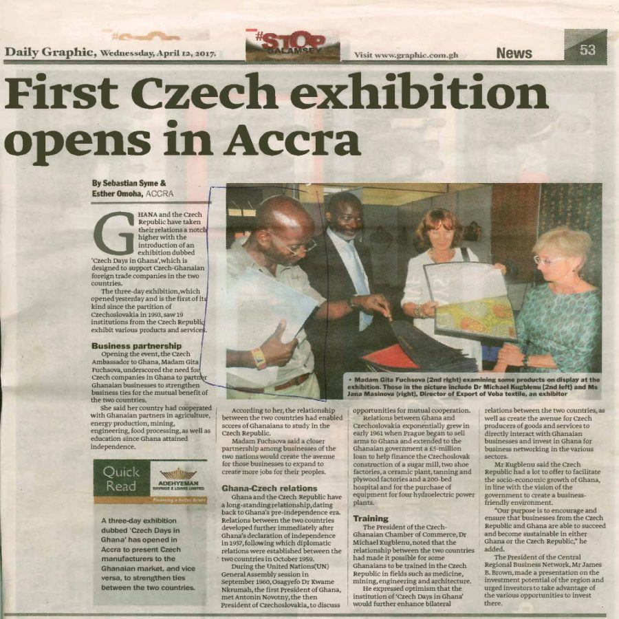 First Czech exhibition opens in Accra