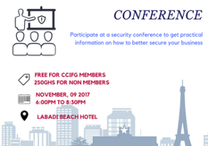 CCIFG BUSINESS SECURITY MANAGEMENT CONFERENCE – 9TH NOVEMBER