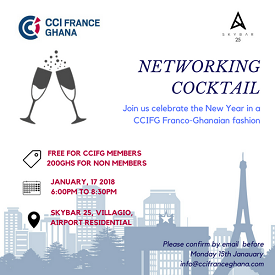 CHAMBER OF COMMERCE AND INDUSTRY FRANCE GHANA (CCIFG) NEW YEAR COCKTAIL