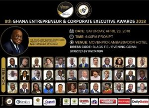 GHANA ENTREPRENEUR & CORPORATE EXECUTIVE AWARDS – APRIL 28
