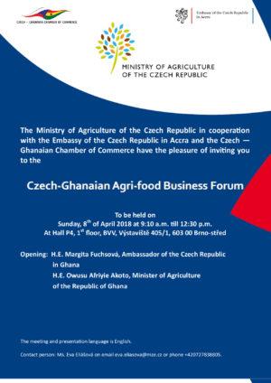 Prezentace zemědělství Ghany v České republice