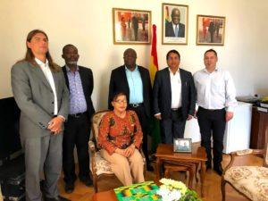 Setkání na ambasádě Ghany v Praze